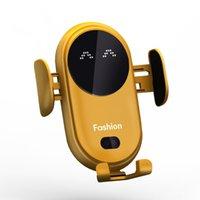 Smart Infrarot Sensor Auto Wireless Ladegerät Auto Halter Mobiltelefon Wireless Ladegerät Farbe Gelb