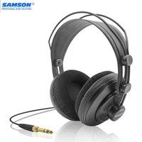 Samson SR850 스튜디오 참조 모니터 헤드폰 동적 헤드셋 녹화를위한 Semi-Open Design 촬영 음악 게임 연주