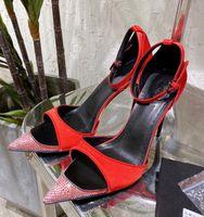 Piste mince talon haut talon sandales de cristal femme satin satin peep toe bretelle sandalias été sandalias été sexy fête mariage chaussures stilettos