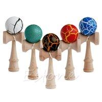 Crack Pattern Toy Bamboo Kendama Лучшие деревянные дети развивающие игрушки Y200428