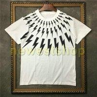 جديد الصيف رجل حار أسود أبيض هندسة الطباعة قصيرة الأكمام تي شيرت الفاخرة مصمم الزى أزياء القمصان تي شيرت تي شيرت