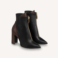 Qualidade moda couro estrela mulheres sapatos martin curto outono outono inverno tornozelo mulheres requintadas botas cowboy botas sapato02 / 1