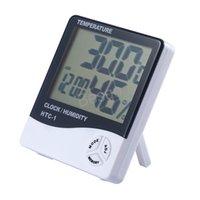 درجة الحرارة الرقمية رطوبة الرطوبة متر ميزان الحرارة مع نظام إنذار على مدار الساعة درجة حرارة داخلي المنزلية دائم BH4394 TQQ