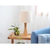 موجزة حديثة نمط الجدول مصابيح عالية الجودة الخشب ومواد القماش الإبداعية أزياء العين حماية الجدول مصباح مع مصدر ضوء الولايات المتحدة