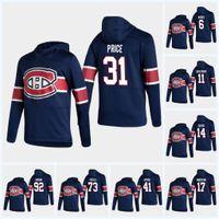 Juventude 2021 Reverse Retro Hoodie Carey Price Nick Suzuki Jersey Montreal Canadiens Jesperi Kotkaniemi Brendan Gallagher Shea Weber