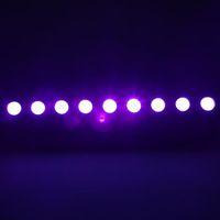 브랜드 새로운 AC100V-240V 260W UV 9-LED 원격 제어 / 자동 / 사운드 / DMX 자주색 빛 DJ 웨딩 파티 무대 가벼운 검은 무대 조명