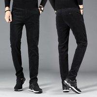 Erkek Kot Sonbahar Kış LY Tasarımcı Moda Erkekler Elastik Slim Fit Rahat Kadife Pantolon Kalın Kadife Sıcak Akıllı Takım Pantolon