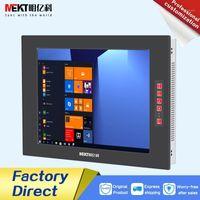 Monitores al aire libre 1000cd \ panel impermeable ip65 \ 10-35v industrial 15 pulgadas computadora pantalla táctil monitor PC PLANTE1