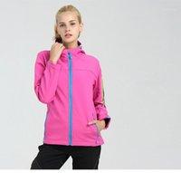 المرأة جاكيتات 2021 الشتاء المرأة طويلة الأكمام softshell الصوف يندبروف معاطف الأزياء عارضة هوديس جودة عالية 89-901