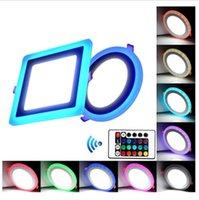 Luce del pannello a led, 85-265V LED Plafoniere a LED Doppio colore Ultrathin LED Lighting Lighting Downlight per la cucina domestica Camera da letto soggiorno