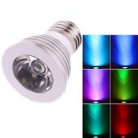 Best Seller E27 3W 85V-265V Télécommande 16 couleurs DIMMABLE LED Spotirlight Nouveau et de haute qualité Spotlights LED éclairage intérieur
