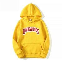 The screw thread cuff Hoodies Streetwear Backwoods Hoodie Sweatshirt Men Fashion autumn winter Hip Hop hoodie pullover Hoody 201103