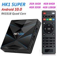 HK1 سوبر أندرويد 10.0 مربع التلفزيون الذكية مساعد جوجل RK3318 4 كيلو 3d أوترال 4 جرام 64 جرام تليفزيون واي فاي تلعب متجر مجموعة أعلى مربع
