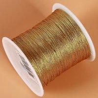 Hilo Golden Oro Plateado Cuerda Nudo Chino Cuerda de Cuerda de Cuerda Cuerda Hilos Crafts Hilo de regalo Para Boda Línea de Navidad