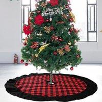 Decorações de Natal Saia de árvore Férias espessas de pelúcia de pelúcia xmas Enfeites domésticos