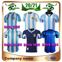 Argentina Versión Retro Maradona Soccer Jersey 1978 1986 1998 Batistuta Messi Simeone Soccer Shirt 2006 1994 Uniformes de fútbol de la Copa Mundial