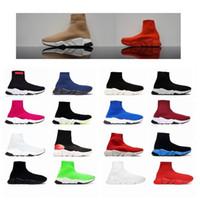 2021 formateur de vitesse Vente chaud noir gypsophile rouge triple s mode plat chaussettes bottes de femmes des hommes Casual balanciaga balenciaga shoes balenciaca speed train