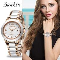 SUNKTA New Rose Gold Watch Women Quartz Watches Ladies Top Brand Luxury Female Wrist Watch Girl Clock Wife gift Zegarek Damski 201119