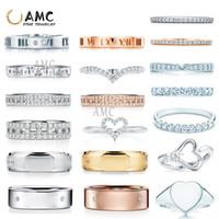 Klassischer Marke Ring 925 Sterling Silber mit gravierten Strassmode und eleganten Schmucksachen Einfache Ins Ring