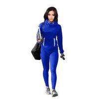 جديد إمرأة رياضية رياضية هوديس أعلى + سروال 2 قطعة امرأة مجموعة الزي المرأة السيدات التخفيضات رياضية الملابس زائد الحجم