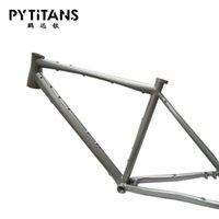 جودة عالية دراجة الإطار التيتانيوم سبائك gr9 التيتانيوم الحصى دراجة الإطار مع مقعد آخر للقرص الفرامل الحرة شماعات derailleur