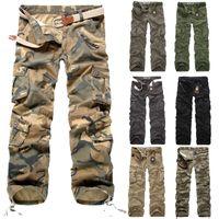 Pantalons de chargement Men 2020 Nouveau pantalon de camouflage Casual Multi-poche Armée Travail de combat Pantalons Mens Militaire Pantalon de cargaison militaire Plus Taille Y1112