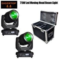 Gigertop 2IN1 Flightcase Förpackning 2 Enhet 75W LED Moving Head Beam Light Fixed Gobo Wheel / Color Wheel Good Quality Ce RoHS Mark