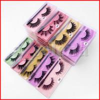 3D Cílios Falsos Atacado Faux Mink Hair Cílios Cílios Falsos Mix estilos Falske Mink Eyelashes Extension Maquiagem Ferramenta