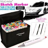 TouchNew 30 / 40/60/20/0/0Color Art Marker Набор двойных советов на основе алкогольных маркеров для рисования рисования маркеры маркера