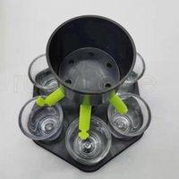 6 Shot Glass Dispenser Держатель Вечеринка Напиток Питьевые Диспенсеры Бар Аксессуары Вина Виски Пиво Диспенсер Стойка с 6 Частями Sea Ship Rra4110