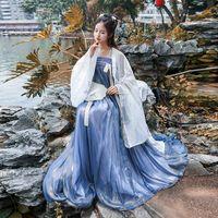 Chinese Ancient Hanfu Women Traditional Stage Dance Dress Lady Elegance Oriental Folk Costume Adult Princess Dresses DWY2333