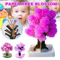 Dekoracje świąteczne 1/2 sztuk Magia Japoński Sakura Drzewo Papier Kwitnący Kryształowe Drzewa Dzieci DIY Zabawki Tue88