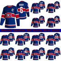 Montreal Canadiens 2021 Reverse Retro Jersey 14 Nick Suzuki 6 Shea Weber 31 Carey Prezzo 11 Gallagher 15 Kotkaniemi Custom Hockey Jerseys
