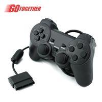 PS2 Poignée de la console de jeu câblée Double Vibration Package convertible USB Computer GamePad Factory Spot de vente directe