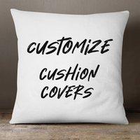 Personalizar Cojín Cubrir sus propios archivos de diseño Imprimir en la funda de almohada 3 Tela Disponible Ropa de cama, poliéster, suave peluche corto de alta calidad
