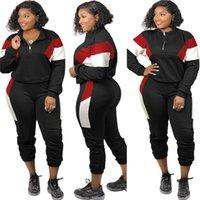 Damen Outfits Langarm Trainingsanzüge 2 Stück Set Trainingsanzug Jogging Sportsuit Hemd Leggings Sweatshirt Hosen Sportanzug Tops