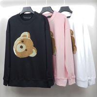 2021 Moda Hombre Hoodie Hoodie Oso Roto Sudadera Oso Teddy Bear Trendy Terry Explosión Suéter Estilo Hombres y mujeres Tamaño S-XL