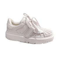 Luxurys desginters ins mulheres sapatos esponja bolo plataforma festa triplo preto branco falt sapato sapatilhas tamanho 35-40