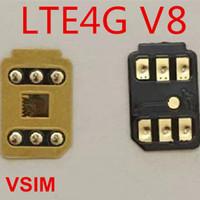 Gratuito DHL 3m Adesivo VSIM V8 Unlock Card Auto Auto Pop-up Menu per IP6S 7 8 x XS XR XSMAX 11Pro 12 Gevey Pro