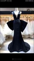 Robe de bal Big Boad Back Long Mermaid Country Country Robes de soirée 2021 Robe de bal Formelle Plage Custom Custom Made Robe Fête Robe de soirée