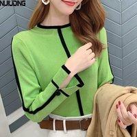Nijiuding FeaD / Winter Turtleneck с длинным рукавом Корейский топ женская вязаная база рубашки высокой шеи тонкий тонкий свитер мода 201023