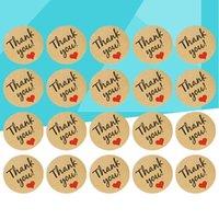 هدية التفاف 20 ورقة الشكر الأختام كوكي حقيبة نافذة جدار القصاصات ملصقات صائق الديكور للضيوف