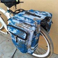 Grands sacs de vélos Vélo Vélo Vélo Vélo Camouflage Bagage Porte-bagages Organisateurs de cyclage Vélo Pannier étanche Storage Pouch1