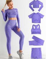 GİYİM GİYİM GİYİM GİYİM 5 ADET Kadın Egzersiz Setleri Önemli Sorunsuz Yoga Set Spor Takım Elbise Eşofman Gym Giyim Kısa Uzun Kollu Mahsul Üst Yüksek Bel Tozluk Autunm Kış