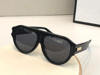 Nueva Moda 0665S Diseñador Gafas de sol Conectado Lente Tamaño Big Tamaño Ovalado Oval Con Pequeños Remaches 0665 Máscara Gafas de sol Popular Gafas Top Calidad