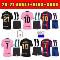 2020 Nova Jersey Jersey Griezmann F. de Jong Coutinho Pjanic Trincao O. Dembele Pedri 20 21 Kit de crianças adultos + meias de alta qualidade camisa de futebol