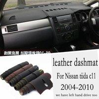 Autres accessoires d'intérieur pour Tiida C11 2004 2006 2006 2007 2008 2009 2009 2010 Cuir Dashmat Tableau de bord Tableau de Tableau de bord Tableau de bord Dash Tapet Carpet Cylisme