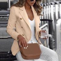 Button Damen Frau 2020 Arbeitsanzug Frauenjacke Büro Dame Formale Frauen Blazer Jacken Weibliche Blazer Femme 5XL Mantel
