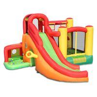 Jardim Suprimento Bouncers Combo Infláveis Comerciais Venda Engraçado Slife Slife Climbing Playhouse Slides Castelo Inflatables Bouncer com Basketball Bloop Air Blower