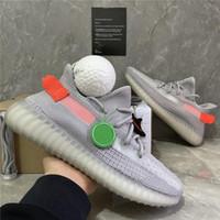 Zebra Küllü Kuyruk Işık Yansıtıcı Israfil Marsh Keten Erkek Eğitmenler Sneakers ile Kutusu En Kaliteli 2020 Kanye West Erkekler Kadınlar Koşu Ayakkabıları